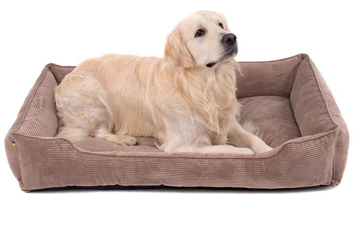 Лежанка для собак из вельвета
